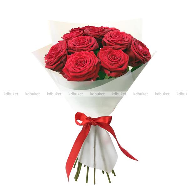 11 красных роз