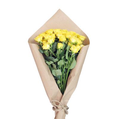 Желтые кустовые розы