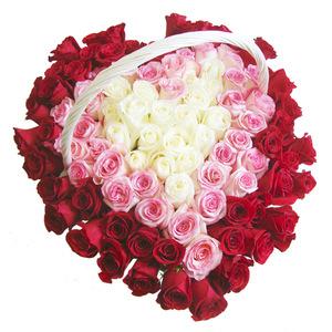 Люблю (101 роза)