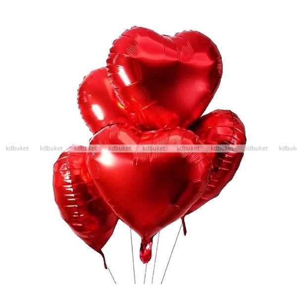 """Фольгированные шары """"Сердца"""""""